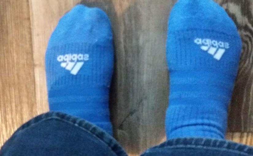 Held op sokken.